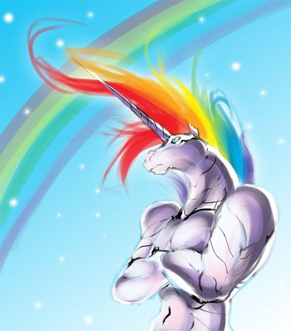 rainbow unicorn | The Attack of the Robot Unicorn