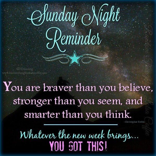 Sunday Motivational Quotes: Sunday Night Reminder