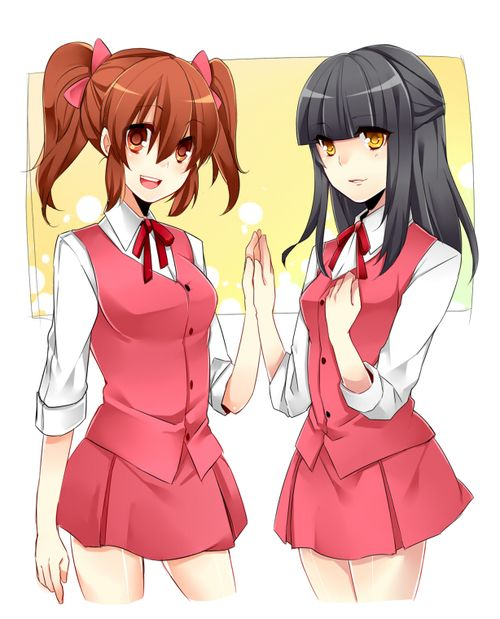 aki and misao! Or..... Pewdelia and misao!  Dude this game is sooo fucked up. But. Its really good too.