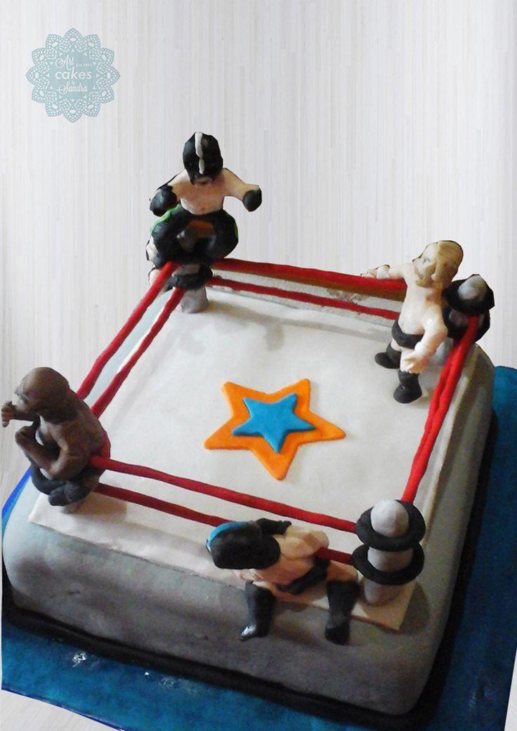 teen birthday cake theme  boxing fan#boxers#ring#teen#12#bysandradesouza
