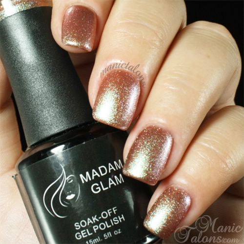 Nail Polish Colors Bronze: Madam Glam Gel Polish 241 Glittery Bronze