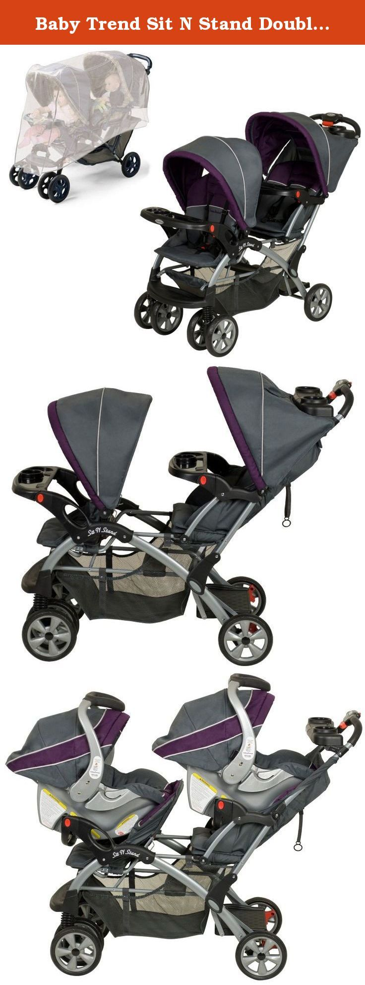 Baby Trend Sit N Stand Double Stroller with Stroller