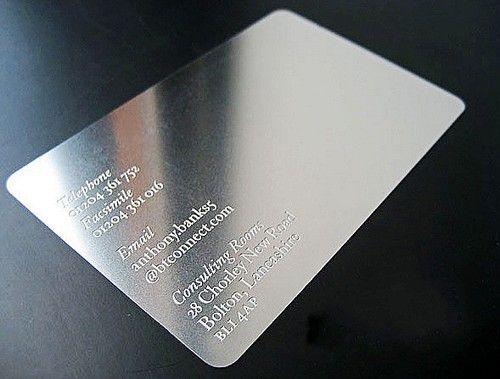 100pcs Bump Pierced Metal Card Customized Business VIP Nameplate Card   eBay