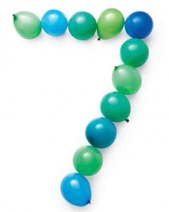 Kids love to see their new number on their birthday. Tape balloons with double-sided tape to a wall.