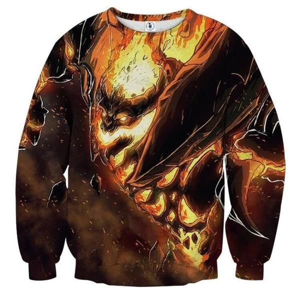 Shadow Fiend Demon Eater 3D Printed Shadow Fiend Sweatshirt