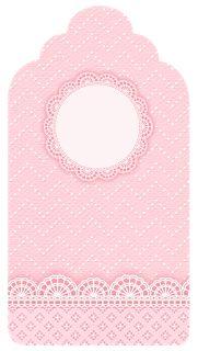 Encaje Rosa: Imprimibles Gratis para Fiestas de Bebés.
