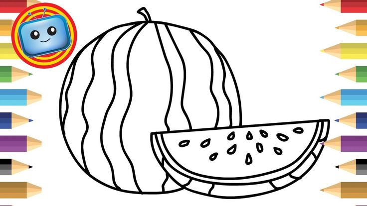 how to draw a watermelon youtube