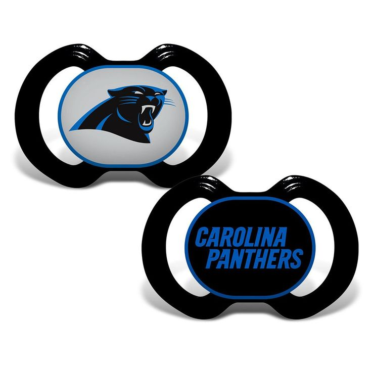 Orthodontic Pacifier w/ Carolina Panthers Team Logo 2-Pack