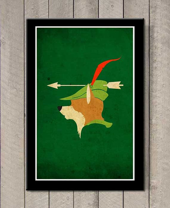 Affiche Robin des Bois A3 - Etsy
