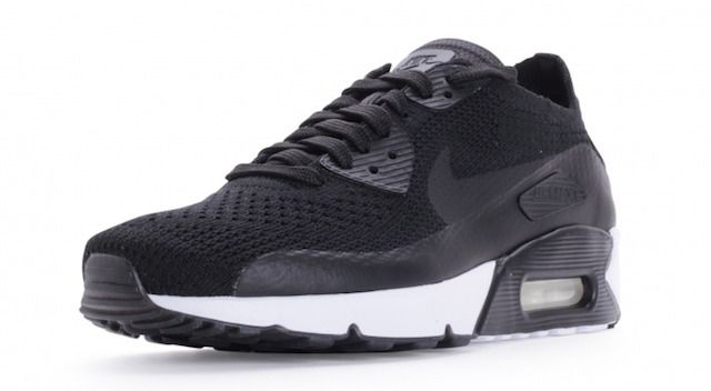 NEW Nike Air Max 90 Ultra 2.0 Flyknit Men Run Size Triple Black White 875943 004 #Nike #RunningCrossTraining