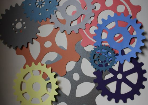 construction paper gears for Maker Fun Factory VBS 2017