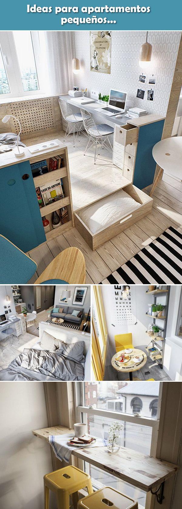 Apartamentos pequeños. Ideas para casas pequeñas. Soluciones para espacios pequeños.