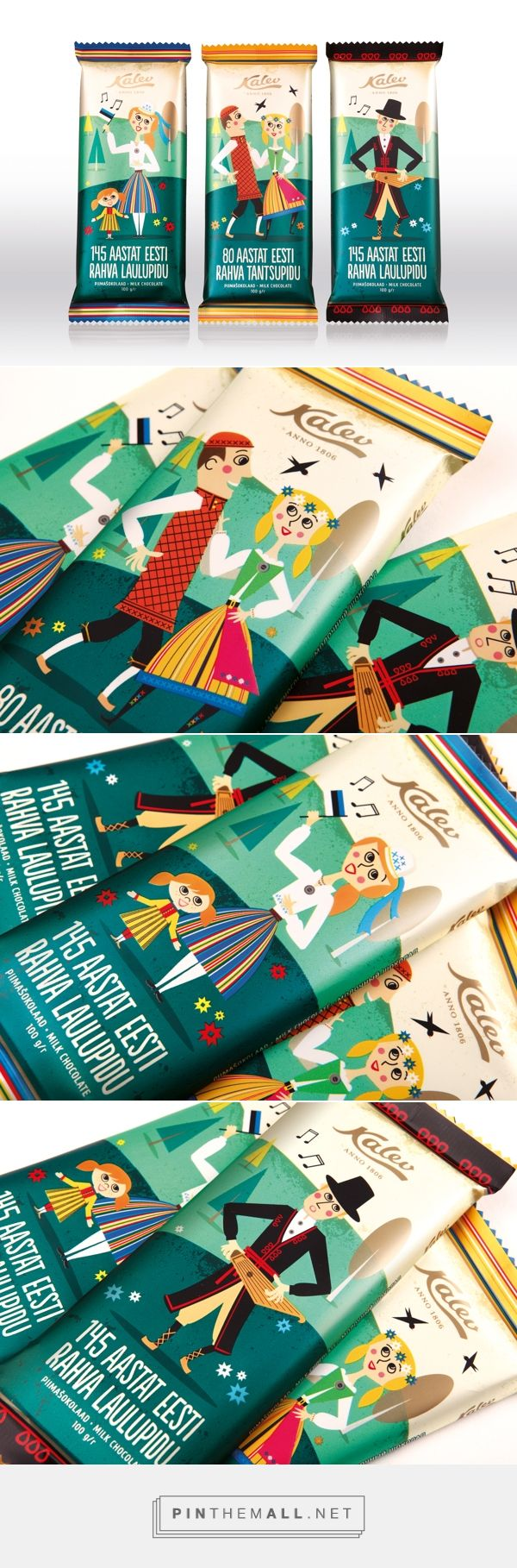 Chocolate bar / Ethno inspired design chocolate bars to support the continuation of the folk traditions in Estonia PD