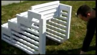 Easy Above Ground Pool Steps, via YouTube.