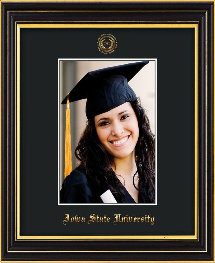 Iowa State U. 5 x 7 Satin Black photo frame w/ISU seal & black mat. – Professional Framing Company