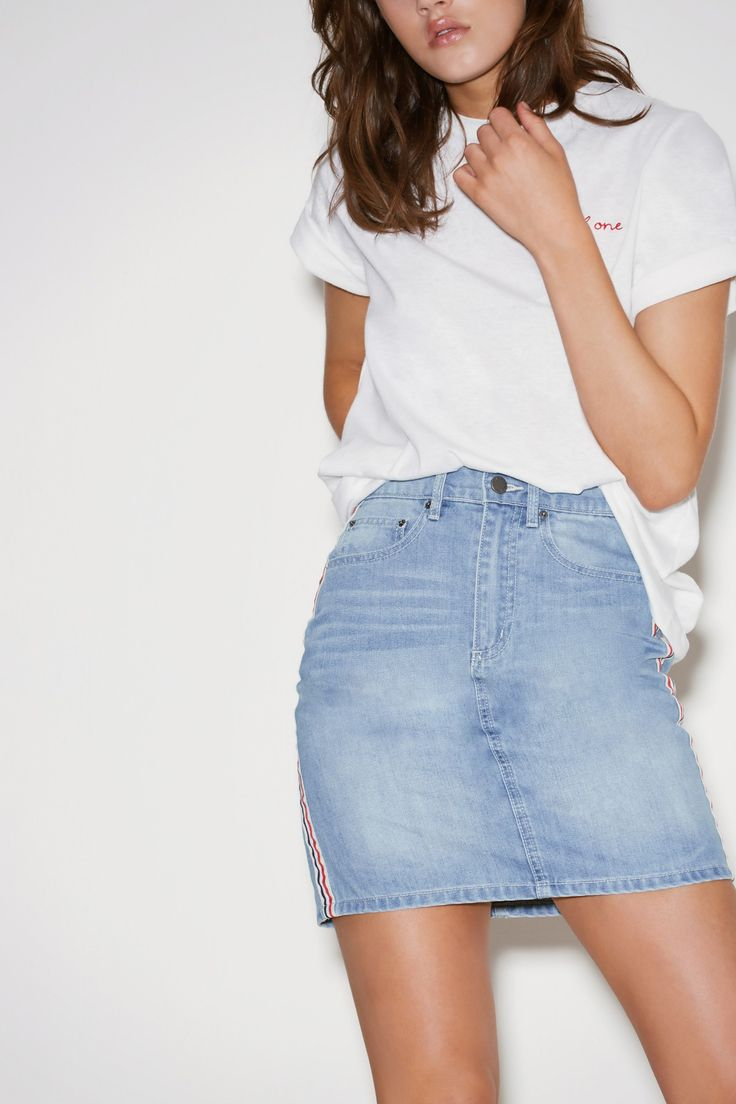 OFFSHORE SKIRT washed blue | THE FIFTH | BNKR