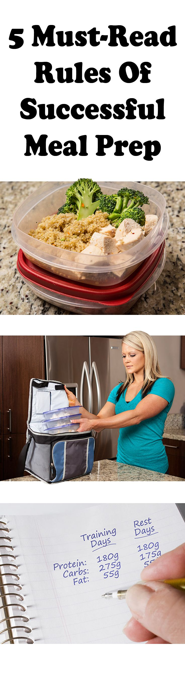 Meal prep doesn't have to be something you dread. Rather than making last minute grocery trips and guessing about the numbers, follow these 5 simple rules of successful meal prep!