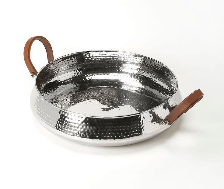 Brigadier Transitional Round Serving Tray Silver