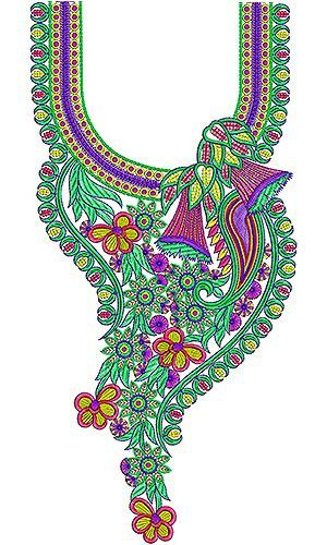 Pakistani Wedding Neck Embroidery Design   Embroidery Neck Designs   Pinterest…