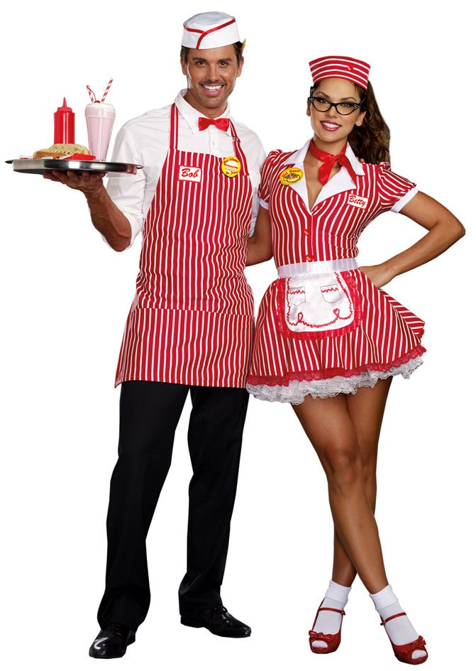 5188b34e149a Women's Retro Diner Doll Costume | Halloween | Couple halloween ...
