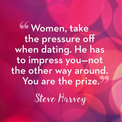 Steve Harvey Quotes -Dating Advice- Get some more Stev-spo at redbookmag.com.
