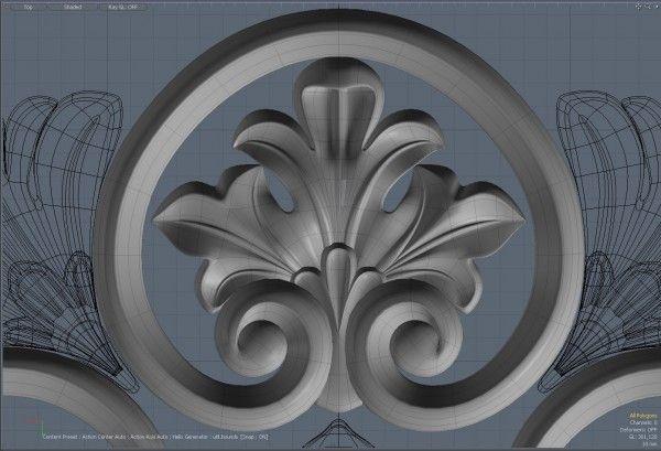 лепнина | Все о modo 3D. Моделирование, текстуры, скалптинг, визуализация, рендер, анимация в modo