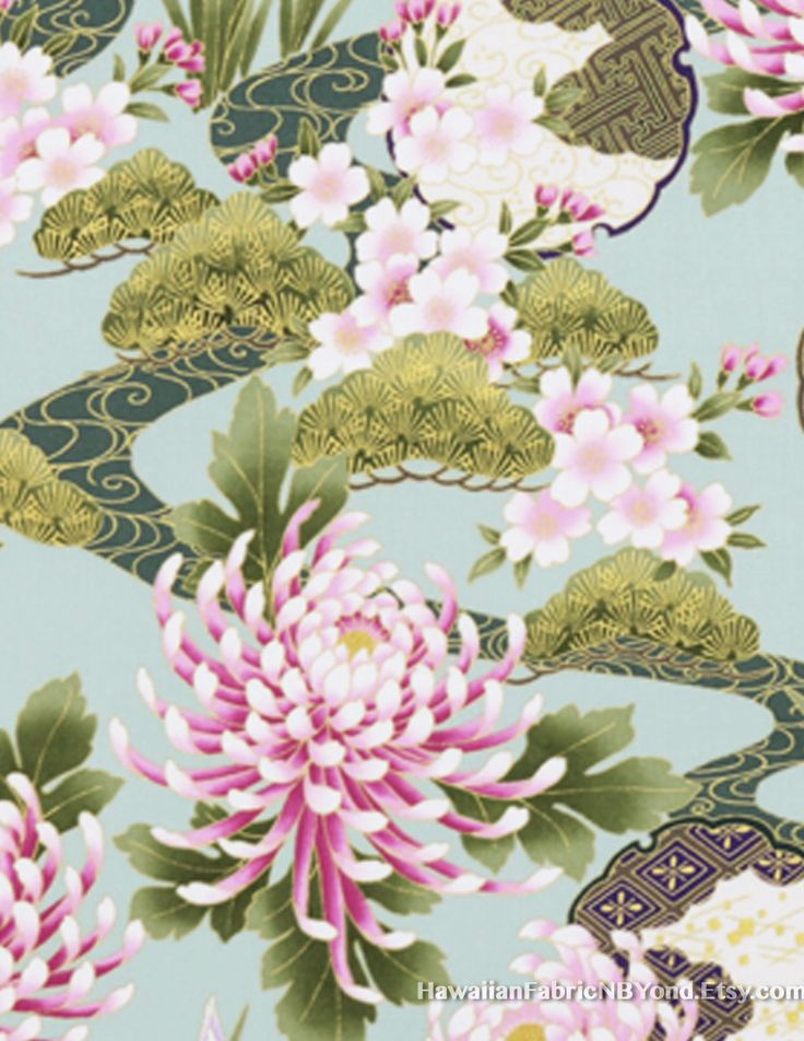 SALE!! Fabric: Japanese high quality cotton kimono design. Check it out at HawaiianFabricNBYond.etsy.com