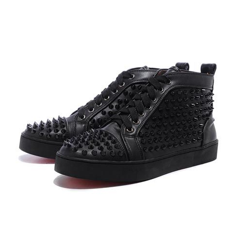 Black Christian Louboutin Mens Louis Studded Hi-Top Sneakers They need to  make some sneakers