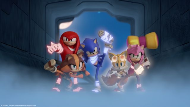 """When a black out strikes the town, Team Sonic sets out to a remote ancient ruin to find an all new energy source. Watch ""Blackout"", tomorrow at 6pm on Boomerang!"""