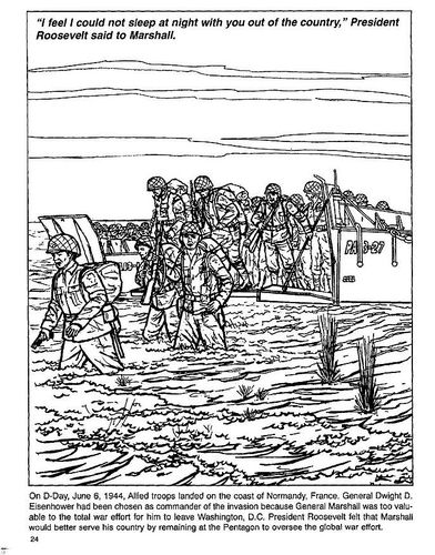 WW2 Coloring page Beaches of Normandy on DDay World