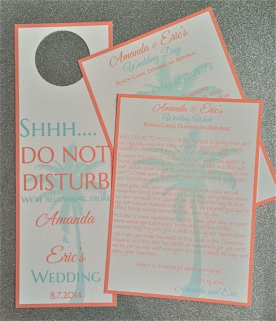 Wedding Welcome Letter Wedding Welcome Itinerary Wedding