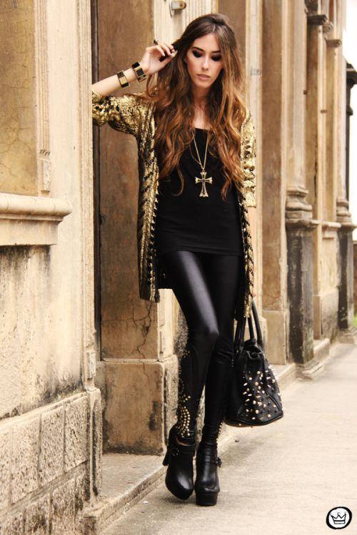 FashionCoolture - 11.03.2013 look dy jour leeging Labellamafia inverno 2013 black gold cardigan Romwe (5)