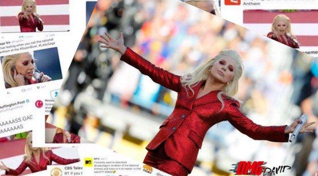 Lady Gaga's National Anthem Was A Star-Spangled Mic Drop