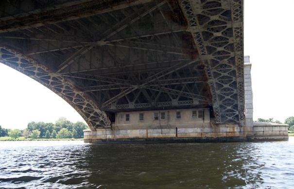 The hidden offices underneath Memorial Bridge have been locked up since 1976.