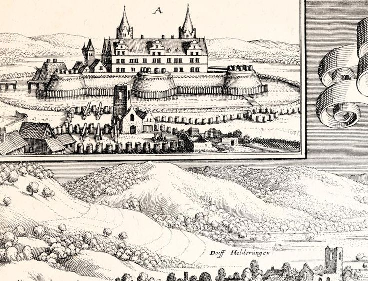 Schloß Heldrungen Festung Barock OBERSACHSEN KUPFERSTICH MERIAN FAKSIMILE 11 - Billerantik