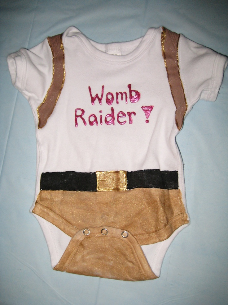 Womb Raider Onesie. $13.50, via Etsy.
