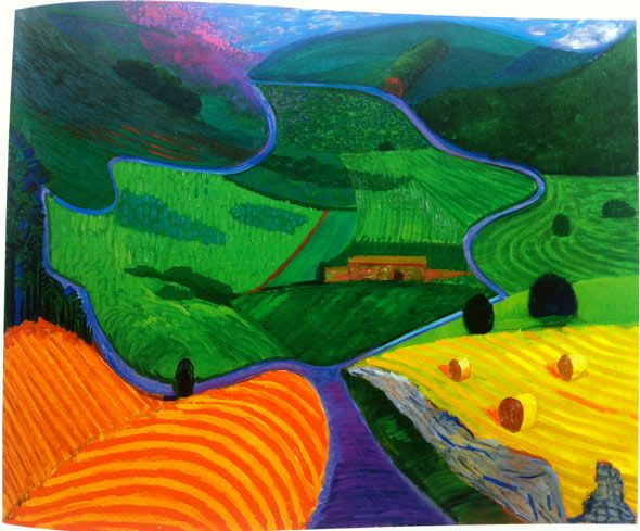David Hockney    Google Image Result for http://www.patternpeople.com/wp-content/uploads/2012/06/david-hockney-landscape2.jpg