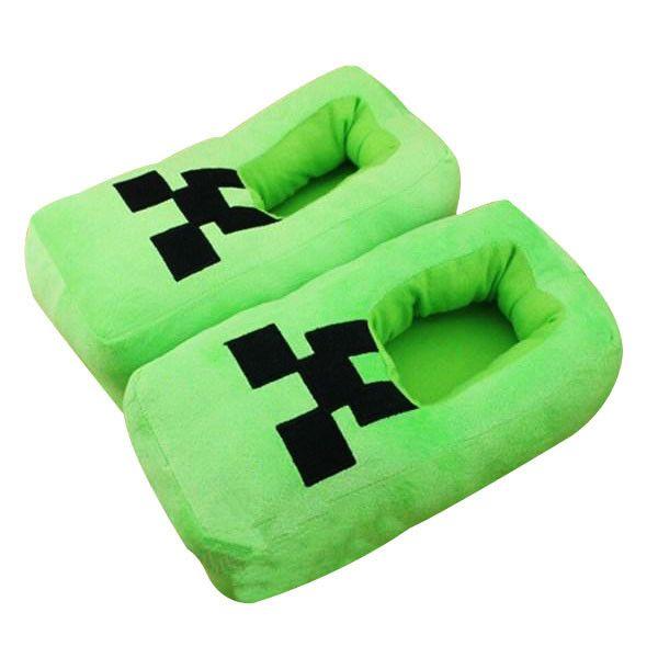 Minecraft Creeper Plush Slippers Geekyget Minecraft