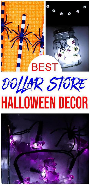 DIY Dollar Store Halloween Decorations – Cheap & Easy Outdoor – Indoor – DIY Halloween Crafts ...