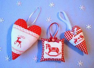 Вышивка крестом / Cross stitch : Примеры новогодней вышивки