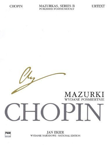 Mazurkas for Piano, Series B, Published Posthumously: Chopin National Edition 25B, Vol. 1:   (PWM). Includes the Mazurkas published posthumously: A minor (WN 14), A minor (WN 60), A minor - earlier version (WN 60), A-flat Major (WN 45), B-flat Major (WN 41), B-flat Major (WN 7), B-flat Major - earlier version (WN 7), C Major (WN 24), C Major (WN 47), F Major (WN 25), F minor (WN 65), G Major (WN 26), G Major (WN 8), G minor (WN 64). Inspired by Polish folk dance, Chopin's mazurkas grad...
