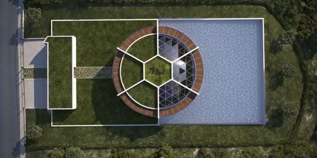 Leo Mesi gradi kuću u obliku fudbalske lopte