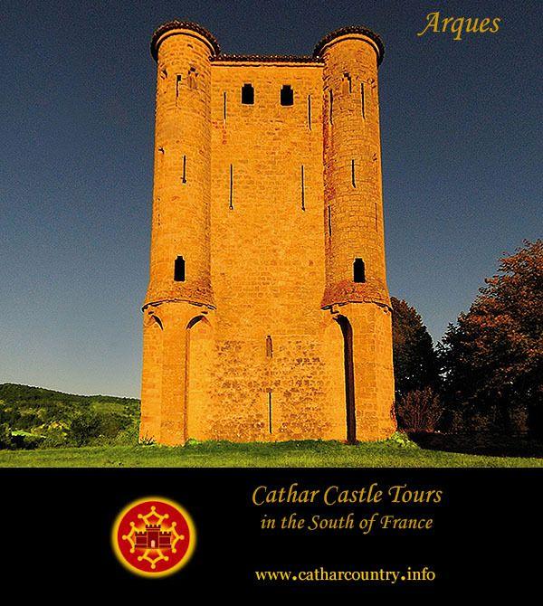 """catharcountry: """" Castèl de Arcas (Château d'Arques), Aude, Languedoc (Occitanie), France. www.catharcastles.info Château d'Arques aka the Donjon d'Arques is often called a Cathar Castle, it was built..."""
