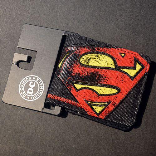 Batman Superman And The Flash Bi-Fold Wallets