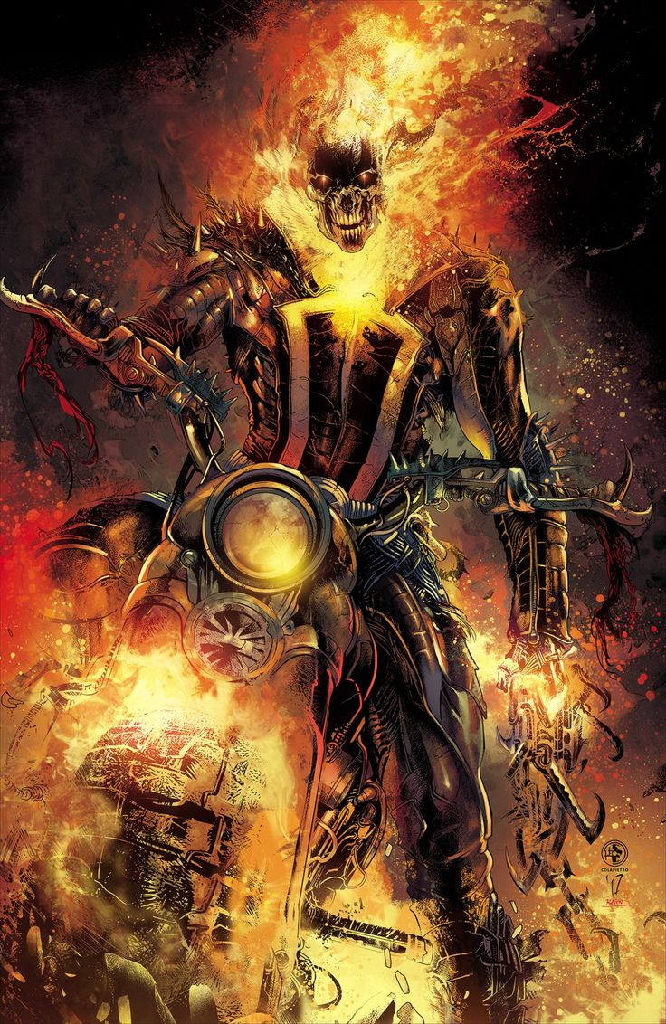 Johnny Blaze, the only real Ghost Rider.
