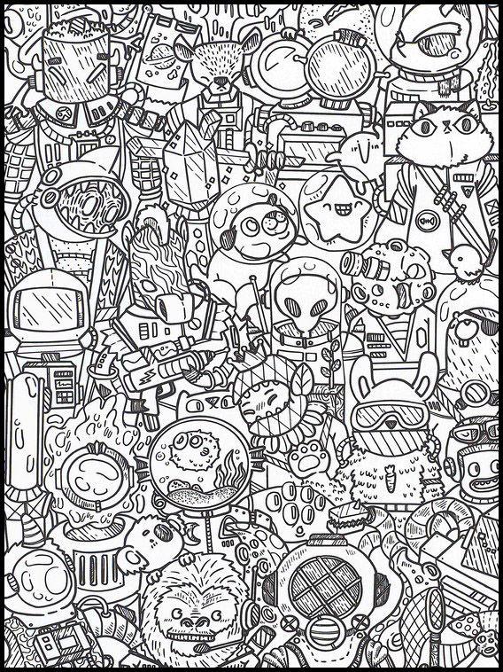doodles im weltraum 37 ausmalbilder für kinder