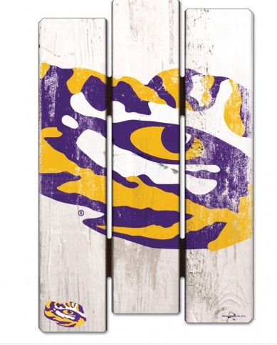 Goodwood Hardware - LSU Wood Fence Sign, $22.95 (http://www.goodwoodhardware.com/lsu-wood-fence-sign/)