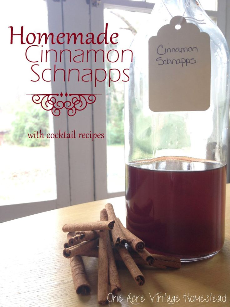 Cinnamon sticks seeped in vodka and simple syrup