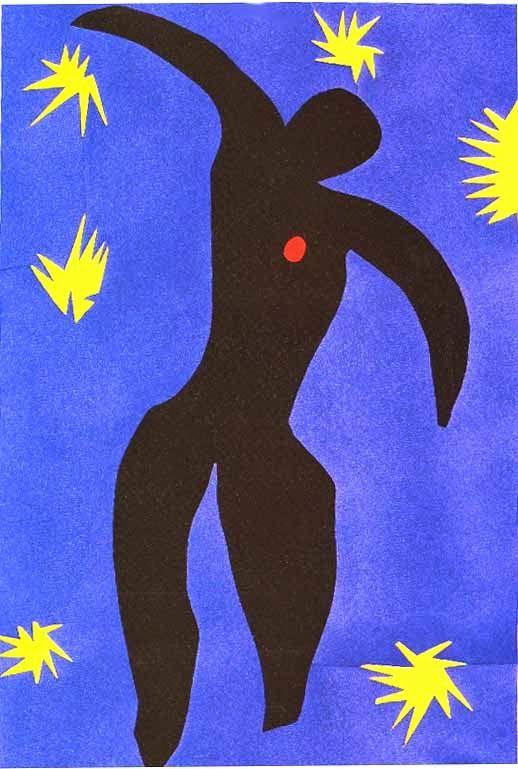 """Ícaro - Pinturas de Matisse, Henri - (Fauvismo) Francês  """"uma dança"""""""