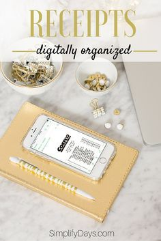A quick and easy way to organize your receipts is to digitize them. This is a step-by-step guide for digitizing and organizing your receipts. // SimplifyDays.com